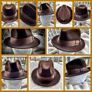 Hippodrome Hatters Men's Wool Lite-Felt Fedora